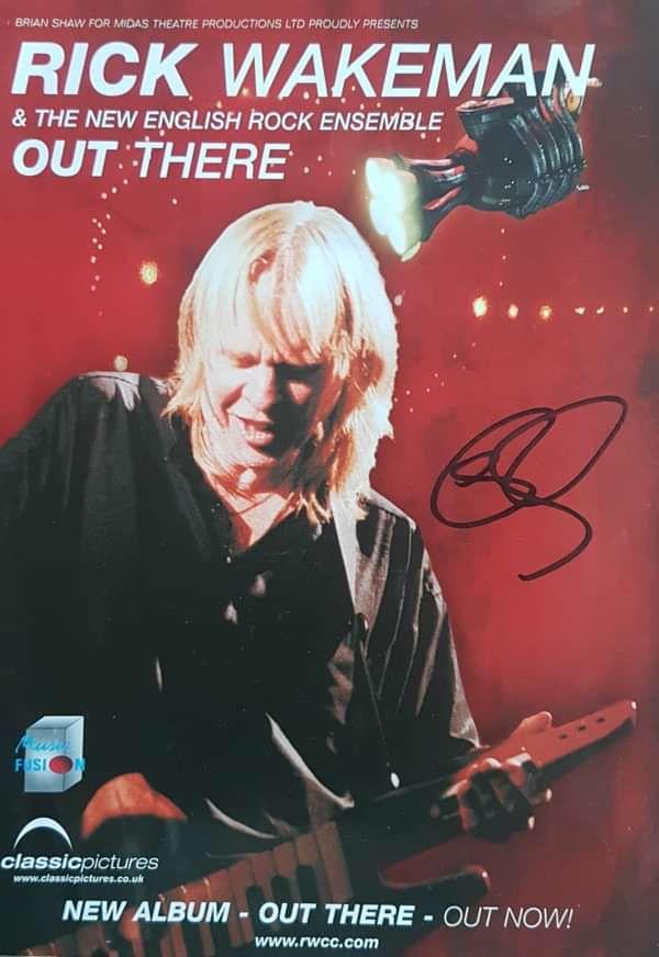 Very rare signed handbill from 2003 - Rick Wakeman Emporium
