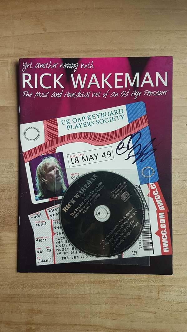Yet Another Evening with Rick SIGNED UK tour programme - Rick Wakeman Emporium
