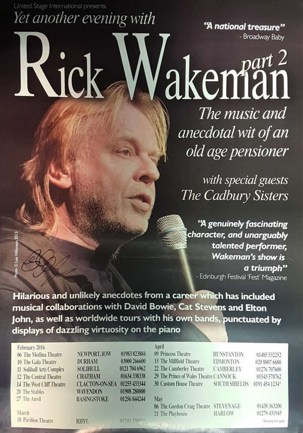 Yet ANOTHER Event  A2 2017 UK Tour Poster - Signed by Rick - Rick Wakeman Emporium