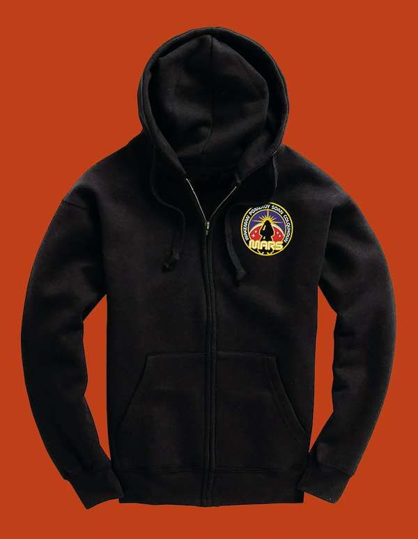 Space Badge Hoodie with Small Badge Image - Rick Wakeman: The Red Planet