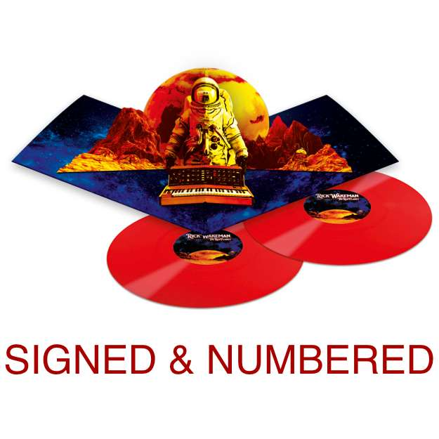 *Ensign* Signed & Numbered Double Red Vinyl & Digital Download - Rick Wakeman: The Red Planet