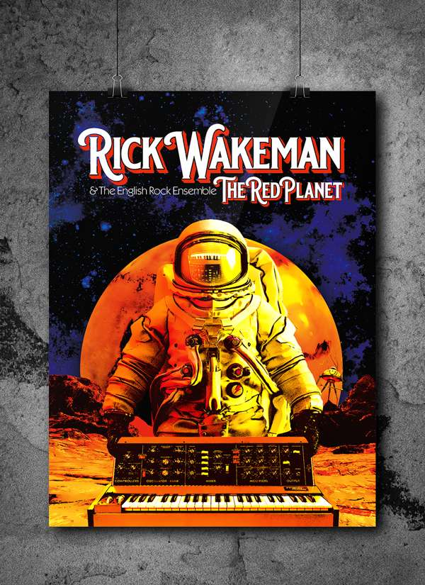 *Rear Admiral* A3 Artwork Print Signed by Rick & The Artist plus Digital Download - Rick Wakeman: The Red Planet