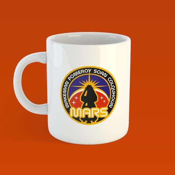 The Red Planet Space Mission Patch image Mug - Rick Wakeman: The Red Planet