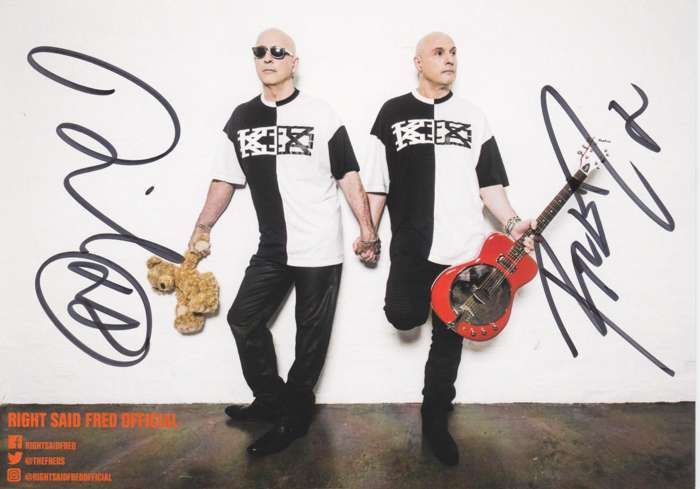 Right Said Fred Autograph Card - Right Said Fred
