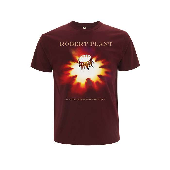 Carry Fire Burgundy Tour Tee - Robert Plant