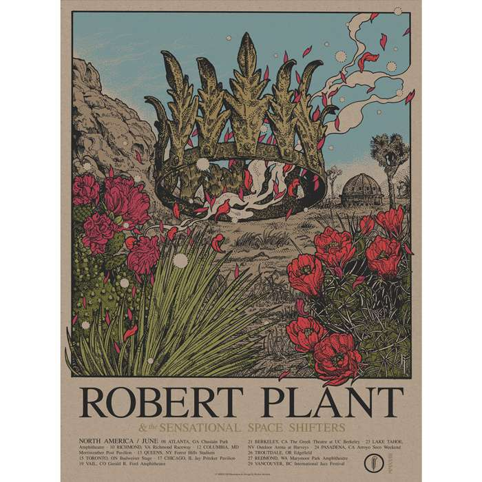 US Summer 2018 Tour – Limited Edition Screen Print - Robert Plant