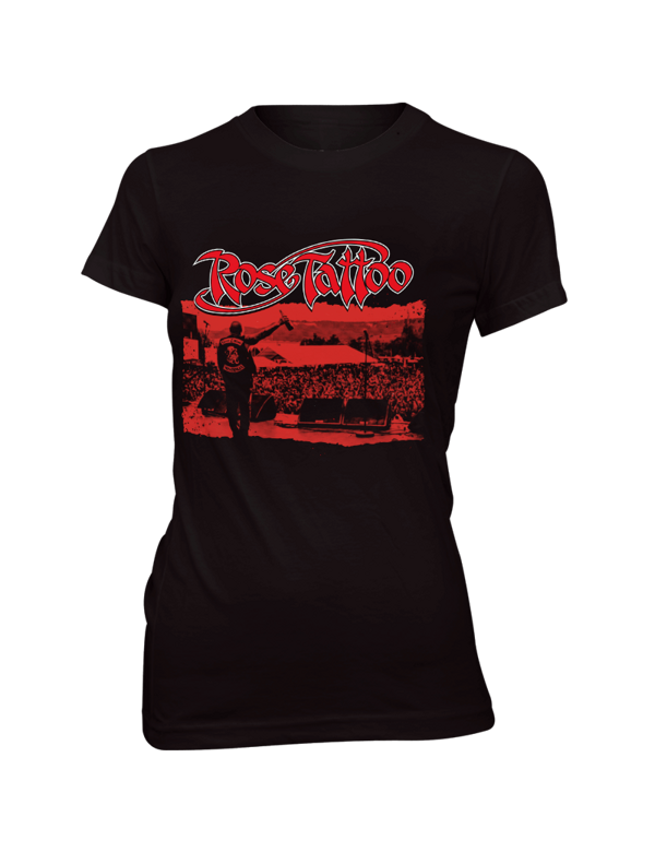 Rose Tattoo - 2018 Girlie Tour Shirt  - Blood Brothers - Rose Tattoo Merchandise