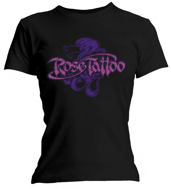 Rose Tattoo - Ladies Purple Snake T Shirt - Rose Tattoo Merchandise