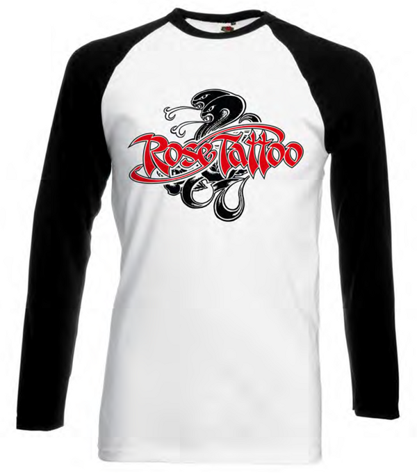 Rose Tattoo - Longsleeve Raglan - Rose Tattoo Merchandise