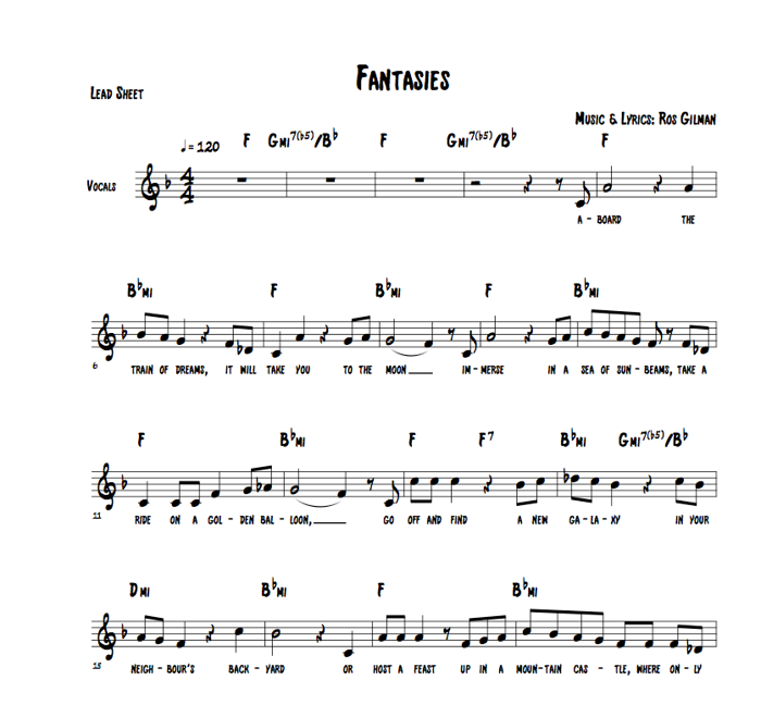 Fantasies - Sheet Music (Downloadable PDF) - Ros Gilman