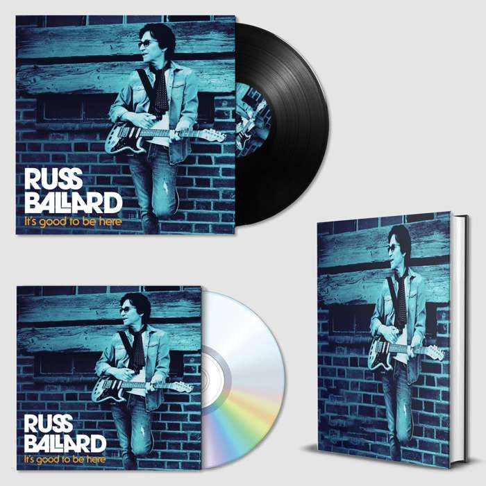 "It's Good To Be Here (Signed CD, Signed 12"" Vinyl & Signed Hardback Book) - Russ Ballard"