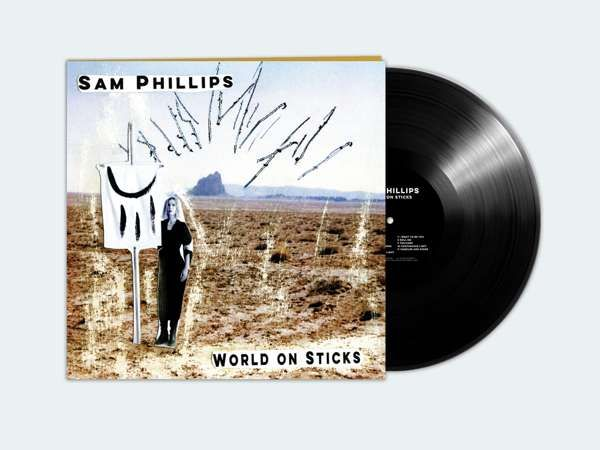 SAM PHILLIPS - 'WORLD ON STICKS' --------- VINYL LP - Sam Phillips