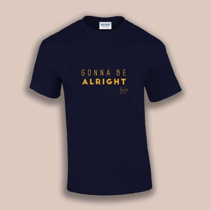 'Gonna Be Alright' -T-Shirt [NAVY] - Samuel Jack