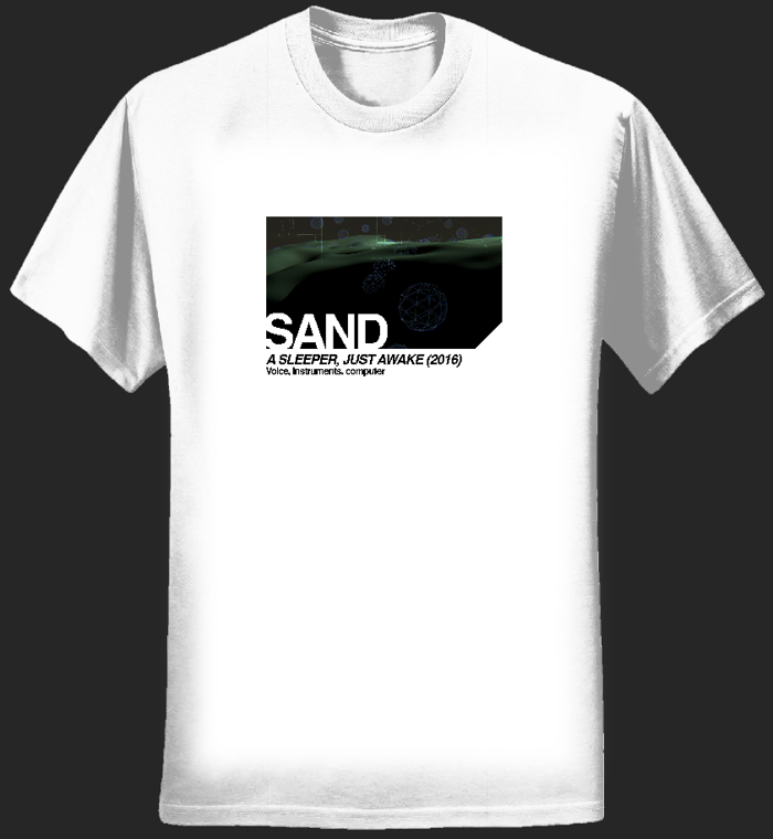 ASJA t-shirt (white, men's, landscape) - Sand