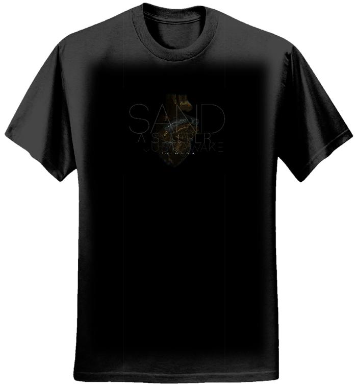 ASJA t-shirt (Women's, heart motif) - Sand
