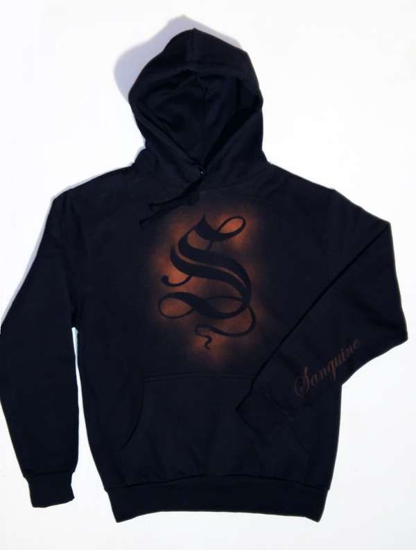 "Black Hoody ""S"" Top - Sanguine"