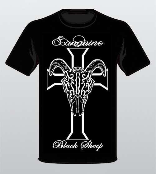 Black Sheep Skull & Cross - Black T-shirt - Sanguine
