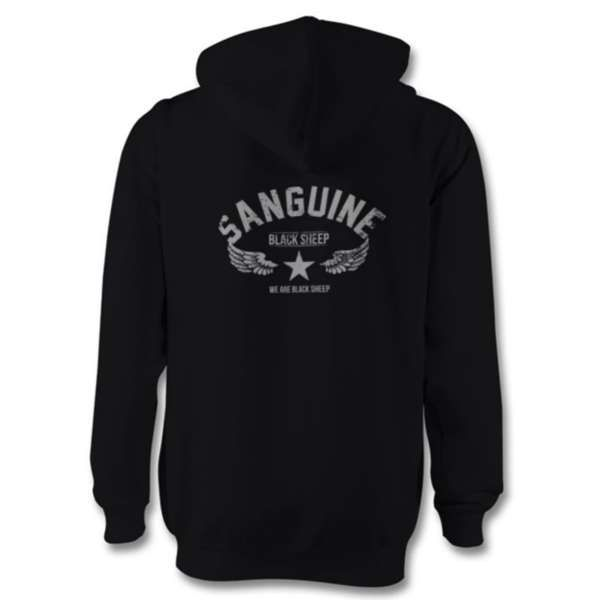 SANGUINE Zip Hoodie - Black Sheep - Sanguine