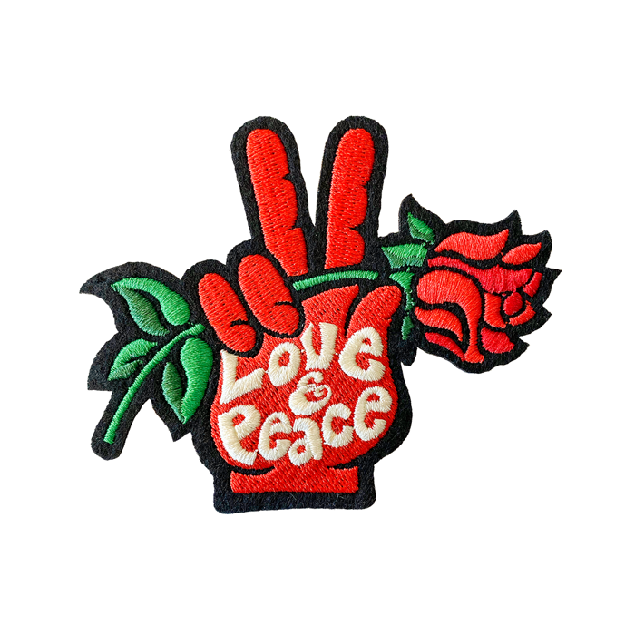 Love & Peace – Embroidered Patch - Seasick Steve