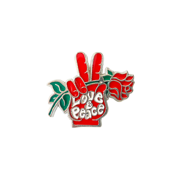 Love & Peace – Enamel Badge - Seasick Steve