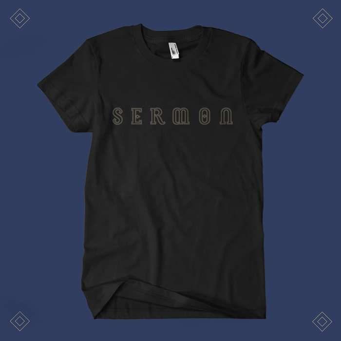 Sermon - 'Logo' Black T-Shirt - Sermon