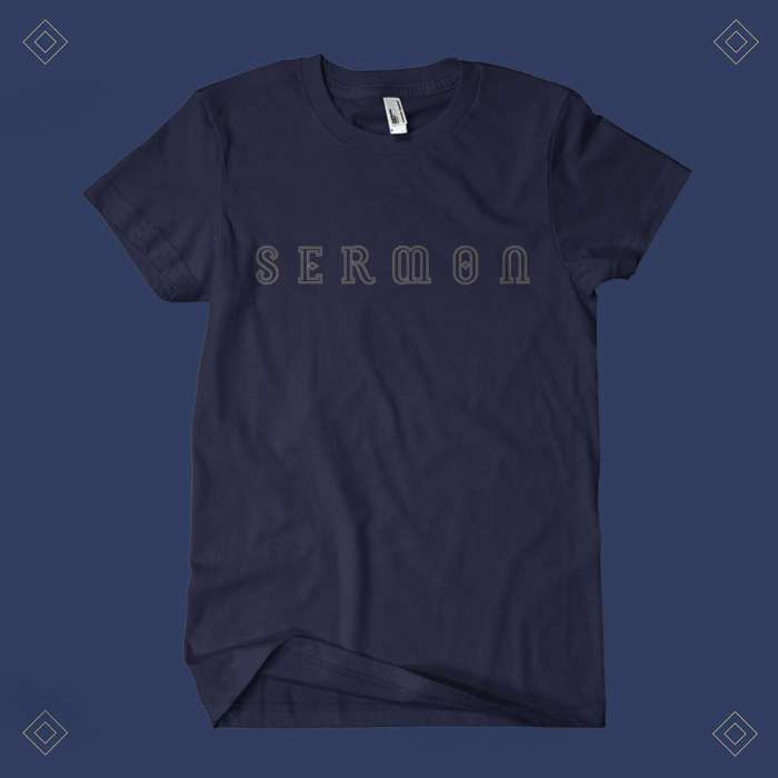 Sermon - 'Logo' Navy Blue T-Shirt - Sermon