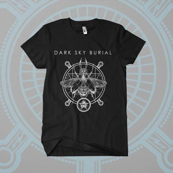 Dark Sky Burial - 'Death Beetle - v1' T-Shirt - Shane Embury