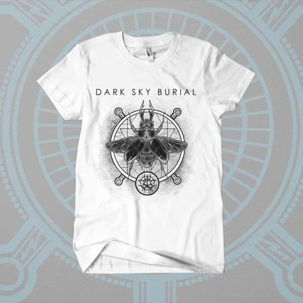 Dark Sky Burial - 'Death Beetle - v2' T-Shirt - Shane Embury