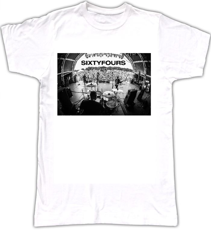 Mens T-Shirt: Festival Stage BW - SIXTYFOURS