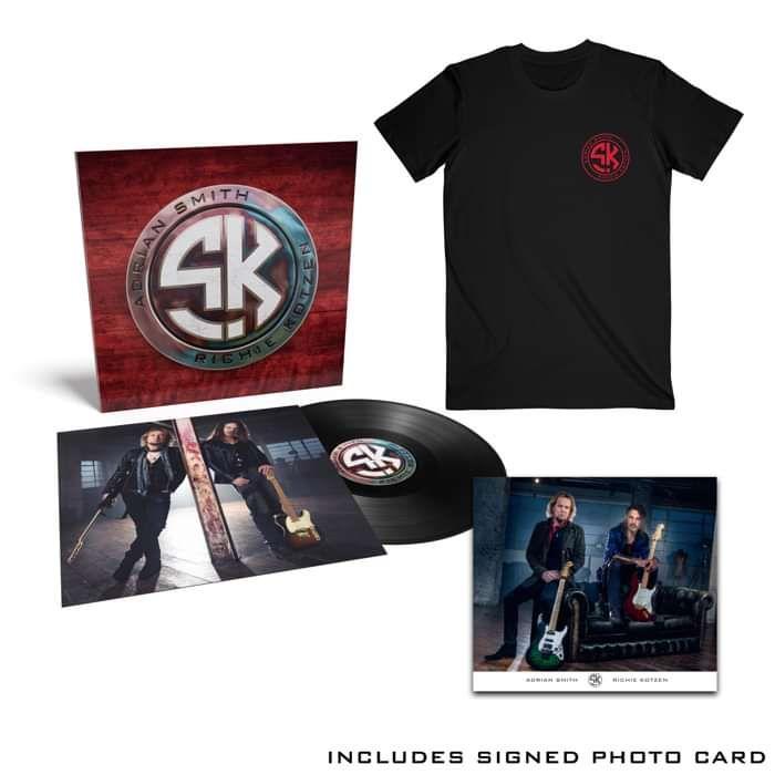 Tee / Black Vinyl Bundle  + Signed Photo Card - Smith Kotzen USA