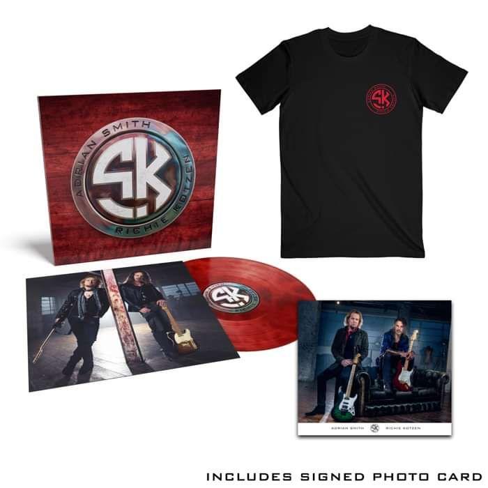 Tee / Red Vinyl Bundle  + Signed Photo Card - Smith Kotzen USA
