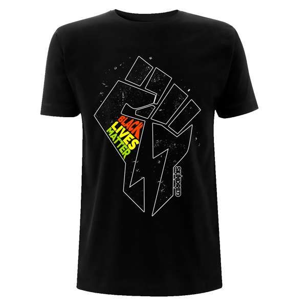 Black Lives Fist - Black Tee - Skindred