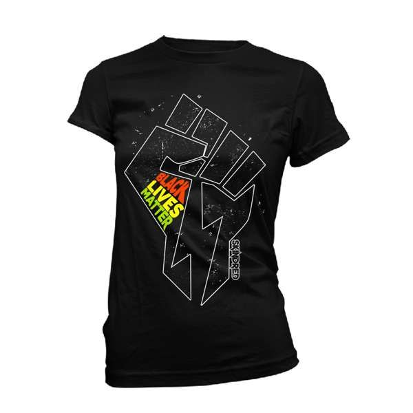 Black Lives Fist - Ladies Black Tee - Skindred