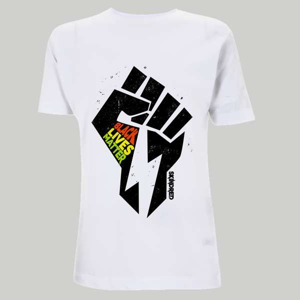 Black Lives Fist - White Tee - Skindred