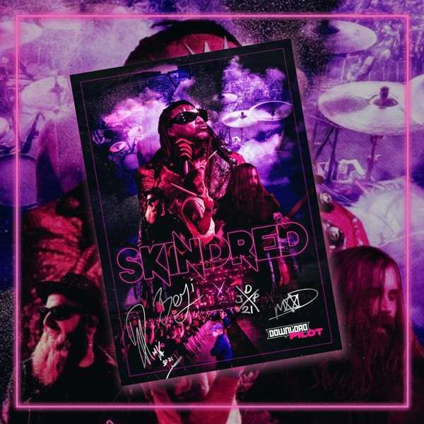 Download - A2 Fully Autographed Litho Print - Skindred