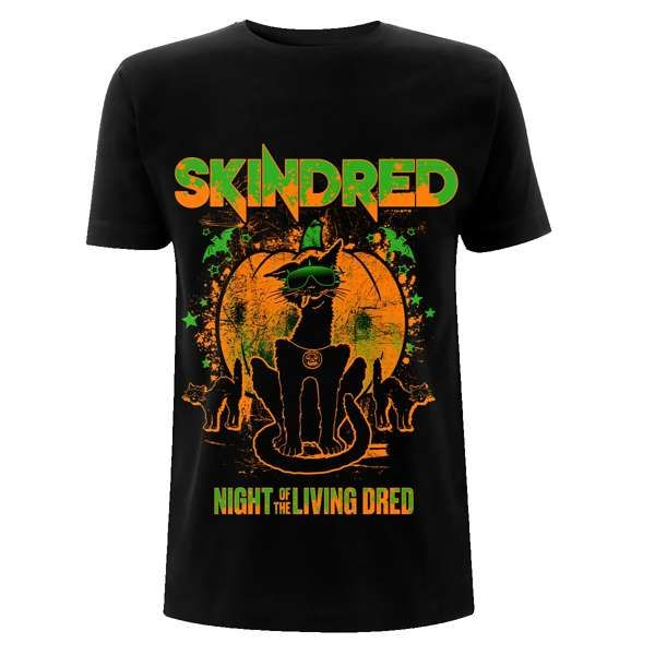 Halloween Cats - Black Tee - Skindred