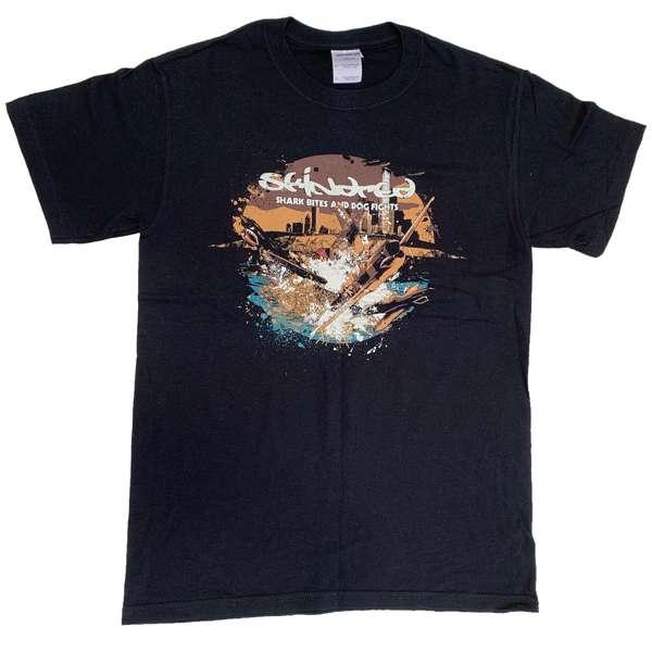 Shark Bites & Dog Fights 2009 UK Tour - Black Tee - Skindred