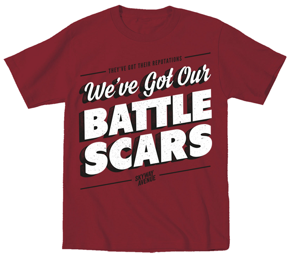 Battlescars T-Shirt - Maroon - Skyway Avenue