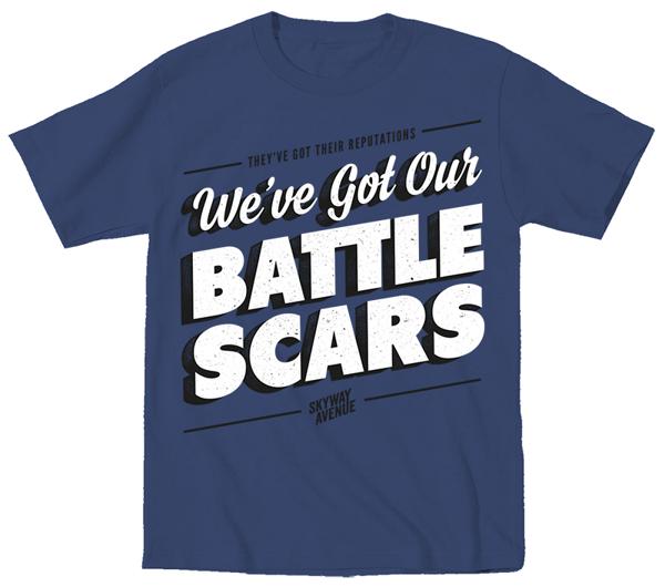 Battlescars T-Shirt - Navy Blue - Skyway Avenue