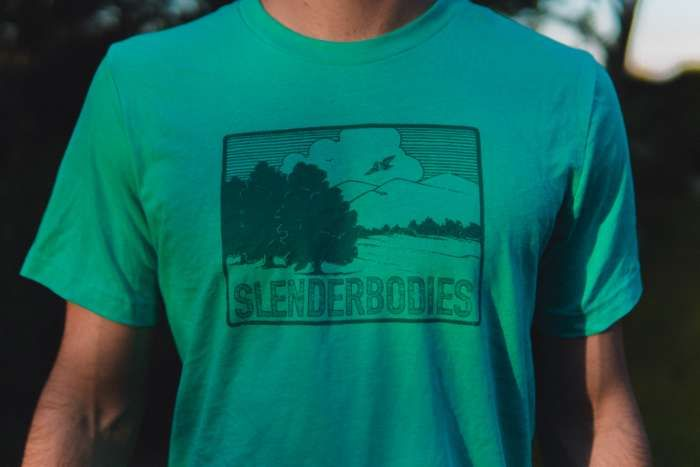 owl tee - turquoise - SlenderBodies