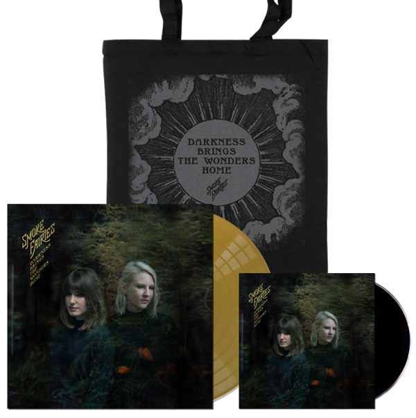 BUNDLE Smoke Fairies - 'Darkness Brings The Wonders Home' Gold Vinyl LP + CD + Tote Bag - Smoke Fairies USD