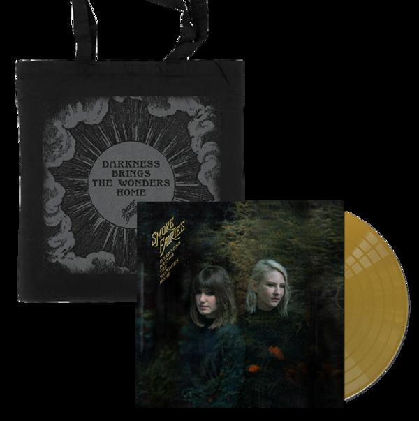 BUNDLE Smoke Fairies - 'Darkness Brings The Wonders Home' Gold Vinyl LP + Tote Bag - Smoke Fairies USD