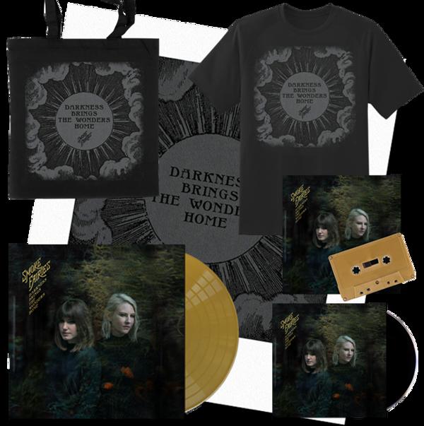 PRE-ORDER BUNDLE Smoke Fairies - 'Darkness Brings The Wonders Home' Gold Vinyl LP + CD + Cassette + T-shirt + Tote Bag + signed Art Print - Smoke Fairies USD