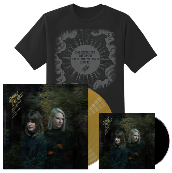 PRE-ORDER BUNDLE Smoke Fairies - 'Darkness Brings The Wonders Home' Gold Vinyl LP + CD + T-shirt - Smoke Fairies USD