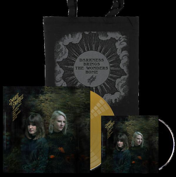 PRE-ORDER BUNDLE Smoke Fairies - 'Darkness Brings The Wonders Home' Gold Vinyl LP + CD + Tote Bag - Smoke Fairies USD