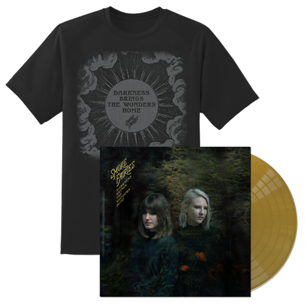 PRE-ORDER BUNDLE Smoke Fairies - 'Darkness Brings The Wonders Home' Gold Vinyl LP + T-shirt - Smoke Fairies USD