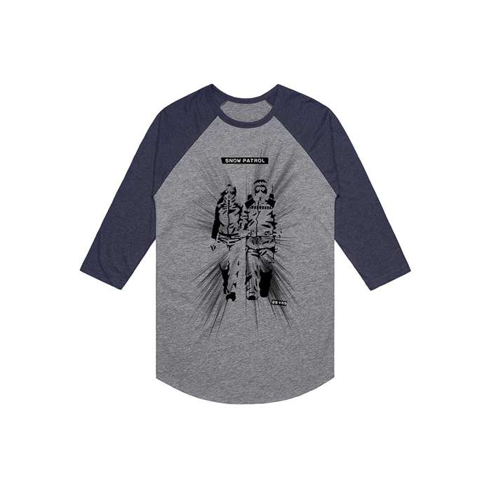 Final Straw Grey/Navy Baseball Raglan - Snow Patrol