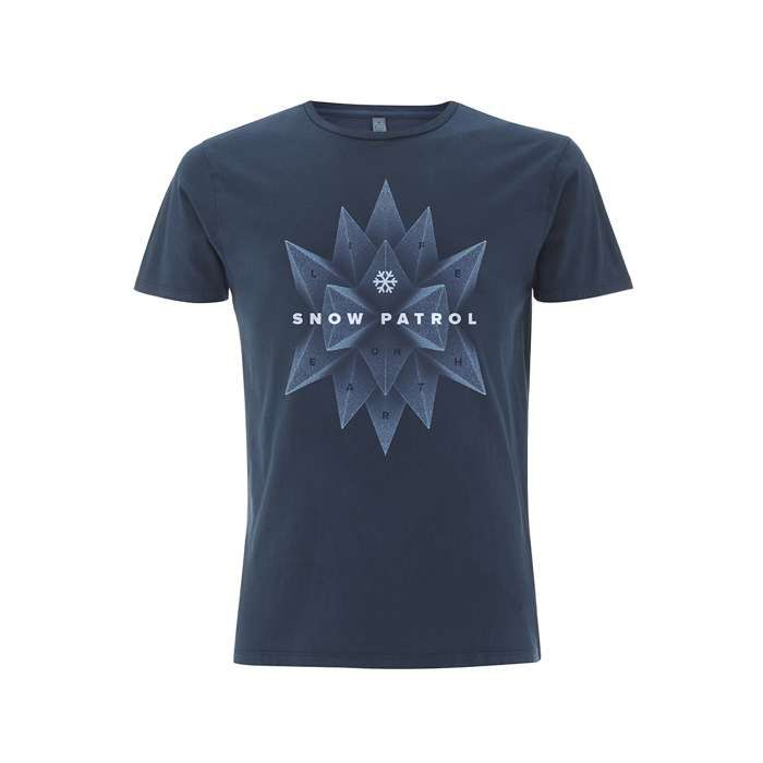 Foam Pyramids - Dyed Denim Blue Tee - Snow Patrol