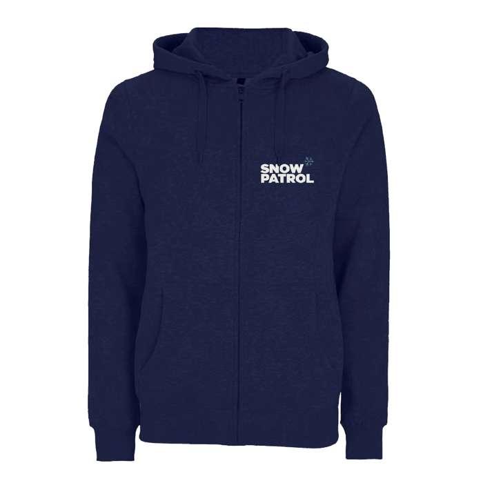 Logo - Navy Zip Hood - Snow Patrol