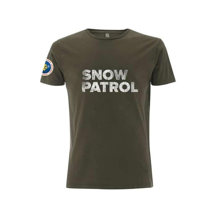 NASA Worn Dyed Army Green Tee - Snow Patrol